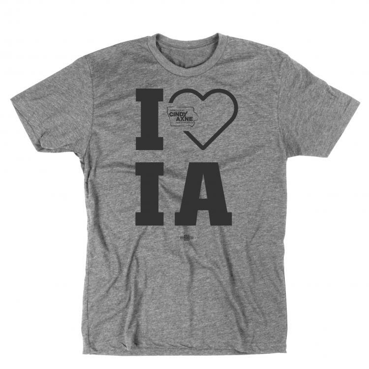 I Heart Iowa Gray Front