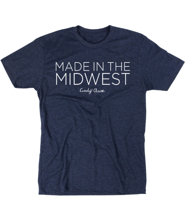 Made In The Midwest Script T-Shirt